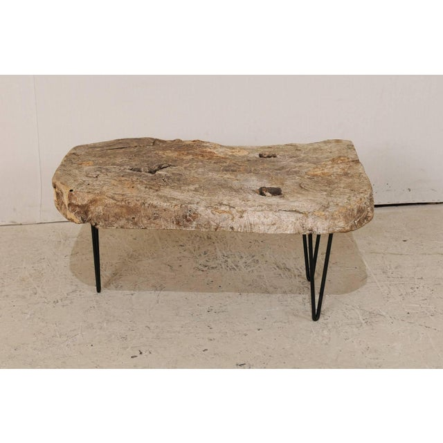 Rustic Rustic Custom-Made Coffee Table of Old Natural Coffee Table For Sale - Image 3 of 8