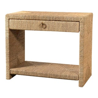 Traditional Woven Rope Side Table For Sale
