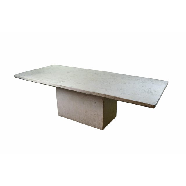 Plaster Vintage Faux Raw Stone Dining Table / Conference Table For Sale - Image 7 of 12
