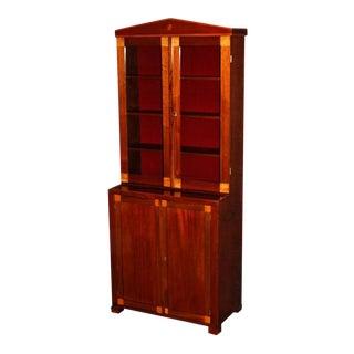 Period Swedish Empire Bookcase Cabinet Cabinetmaker's Sample For Sale