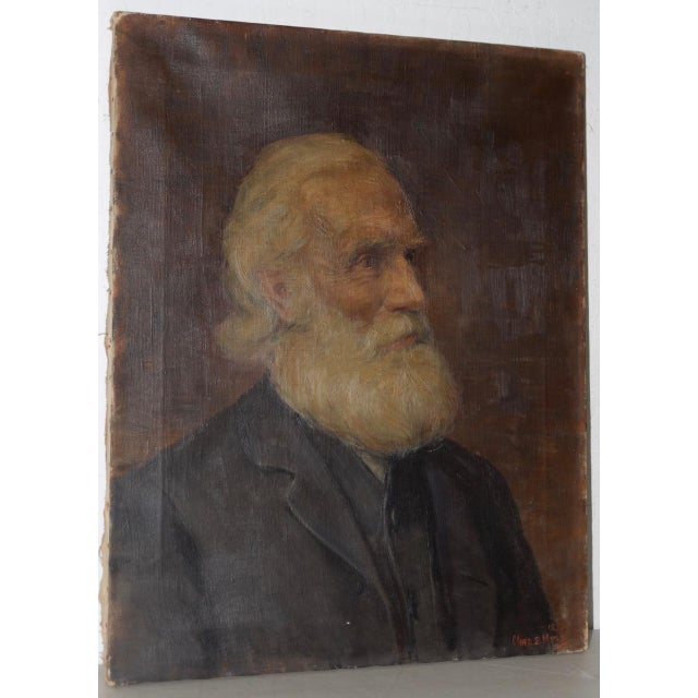 Late 19th Century Charles Moss (1860-1901), 19th Century Oil Portrait C.1897 For Sale - Image 5 of 5