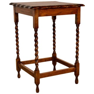1900s English Oak Side Table For Sale