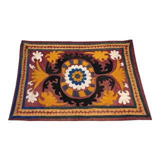 Silk Embroidery Antique Tapestry For Sale
