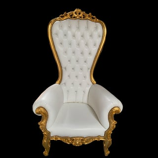 Louis XV Style Gold Throne Chair Preview