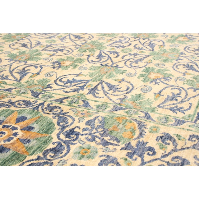"American Classical Uzbek Folk Design Handmade Wool Rug-8'x10"" For Sale - Image 3 of 8"