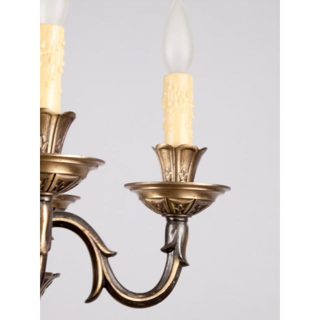 French Gilded Bronze Chandelier circa 1920's - Image 6 of 9
