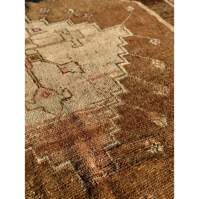 1950s Turkish Oushak Wide Runner For Sale - Image 11 of 13