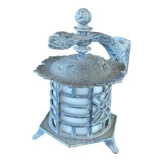 Vintage Hanover Verdigris Pagoda Dragon Lantern For Sale