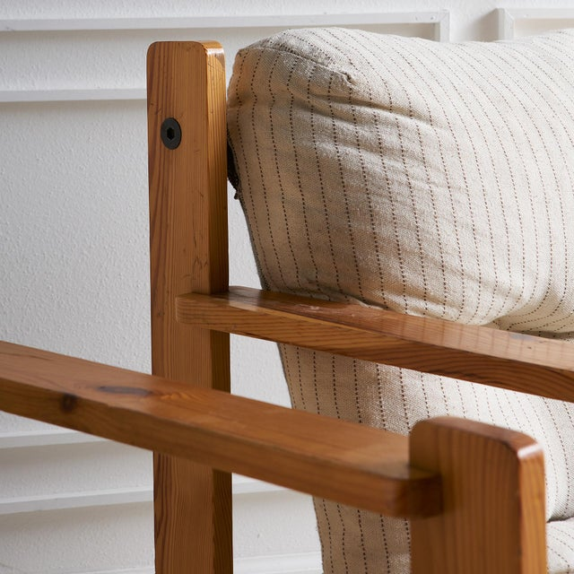 Wood Pair of European Wooden Lounge Chairs For Sale - Image 7 of 11