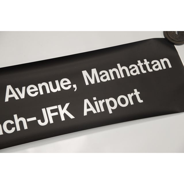 """Vintage New York """"Train to the Plane"""" Subway Sign - Image 5 of 5"""