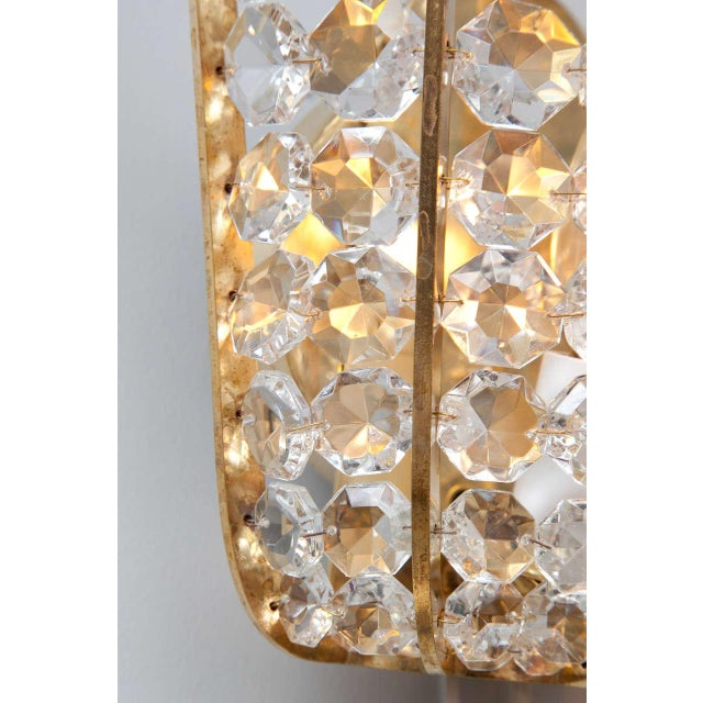 Austrian Beaded Crystal Sconces - A Pair For Sale - Image 4 of 5