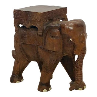 1920s African Elephant Side Table For Sale