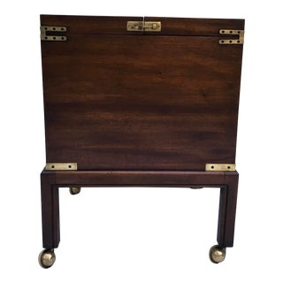 Baker Furniture Campaign Style Bar For Sale