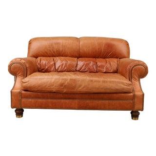 1970s Vintage Ferguson Copeland Ltd Leather Sofa For Sale