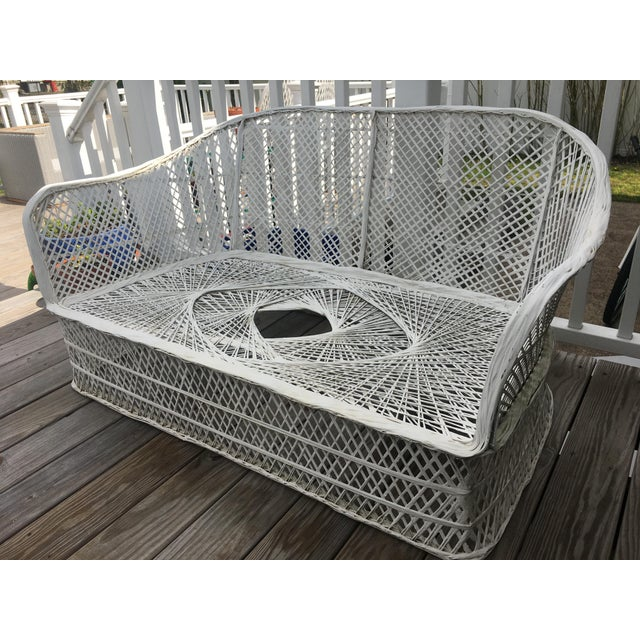 Vintage Woodward Fiberglass Spun Outdoor Couch For Sale In New York - Image 6 of 6