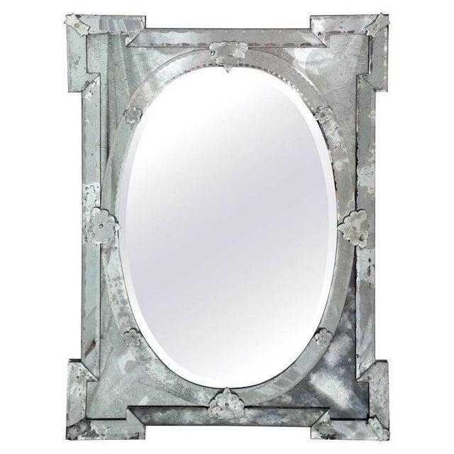 Hollywood Regency Venetian Mirror With Elegant Shield Design, 1940's For Sale - Image 11 of 13
