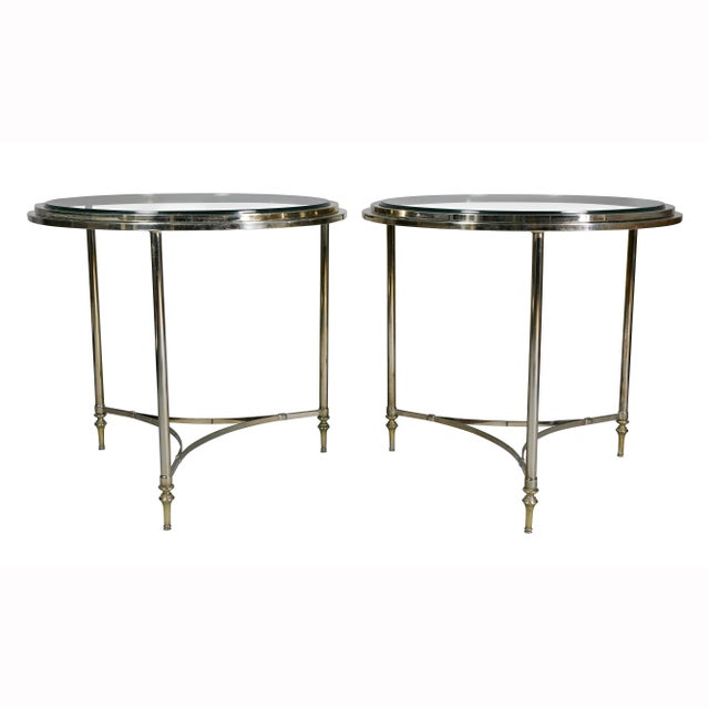 1970s Modern Chrome End Tables - a Pair For Sale - Image 5 of 7
