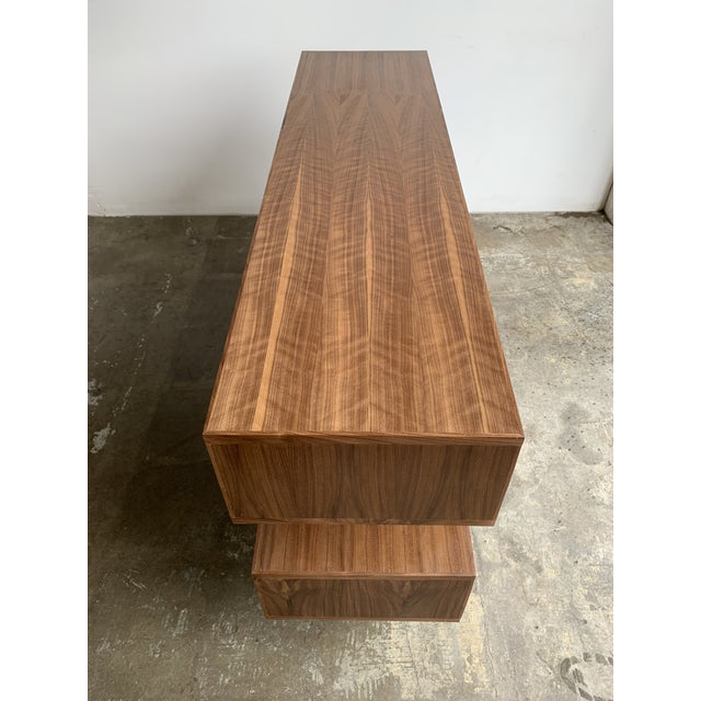 Walnut Modern Book Case For Sale - Image 10 of 13