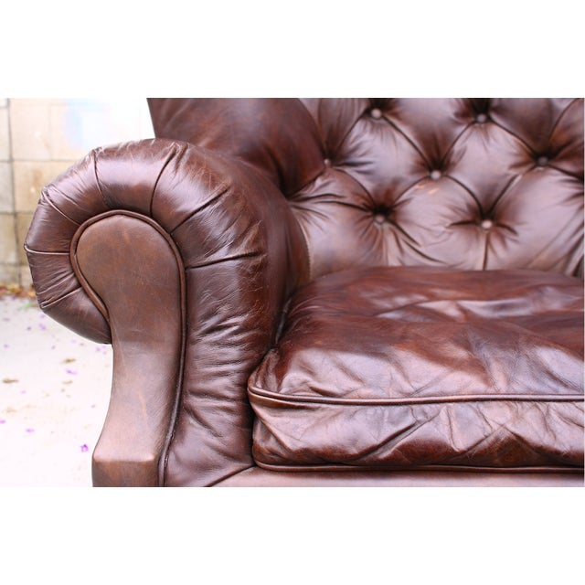 Restoration Hardware Churchill Chair & Ottoman - Image 6 of 9