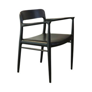 Vintage Danish Moller 57 Original Black Arm Chair