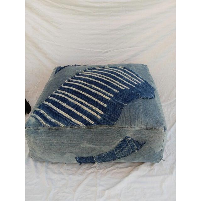 Indigo Floor Cushion Ottoman - Image 3 of 6