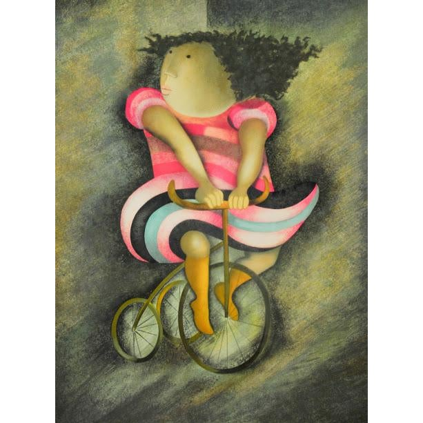 "Limited Lithograph ""Girl on Tricycle"" by Graciela Rodo Boulanger - Image 3 of 8"