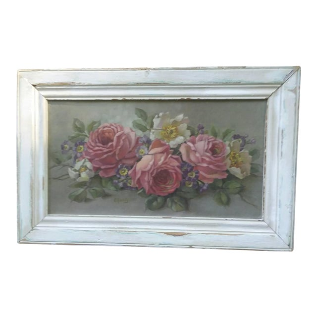 Christie Repasy Shabby Chic Floral Painting - Image 1 of 5