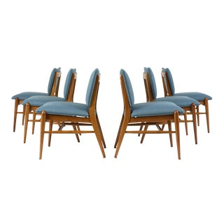 Set of Six Dining Room Chairs by John Keal for Brown Saltman For Sale