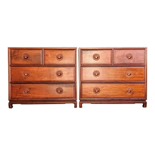 Chinoiserie Teak Chests / Dressers, a Pair For Sale
