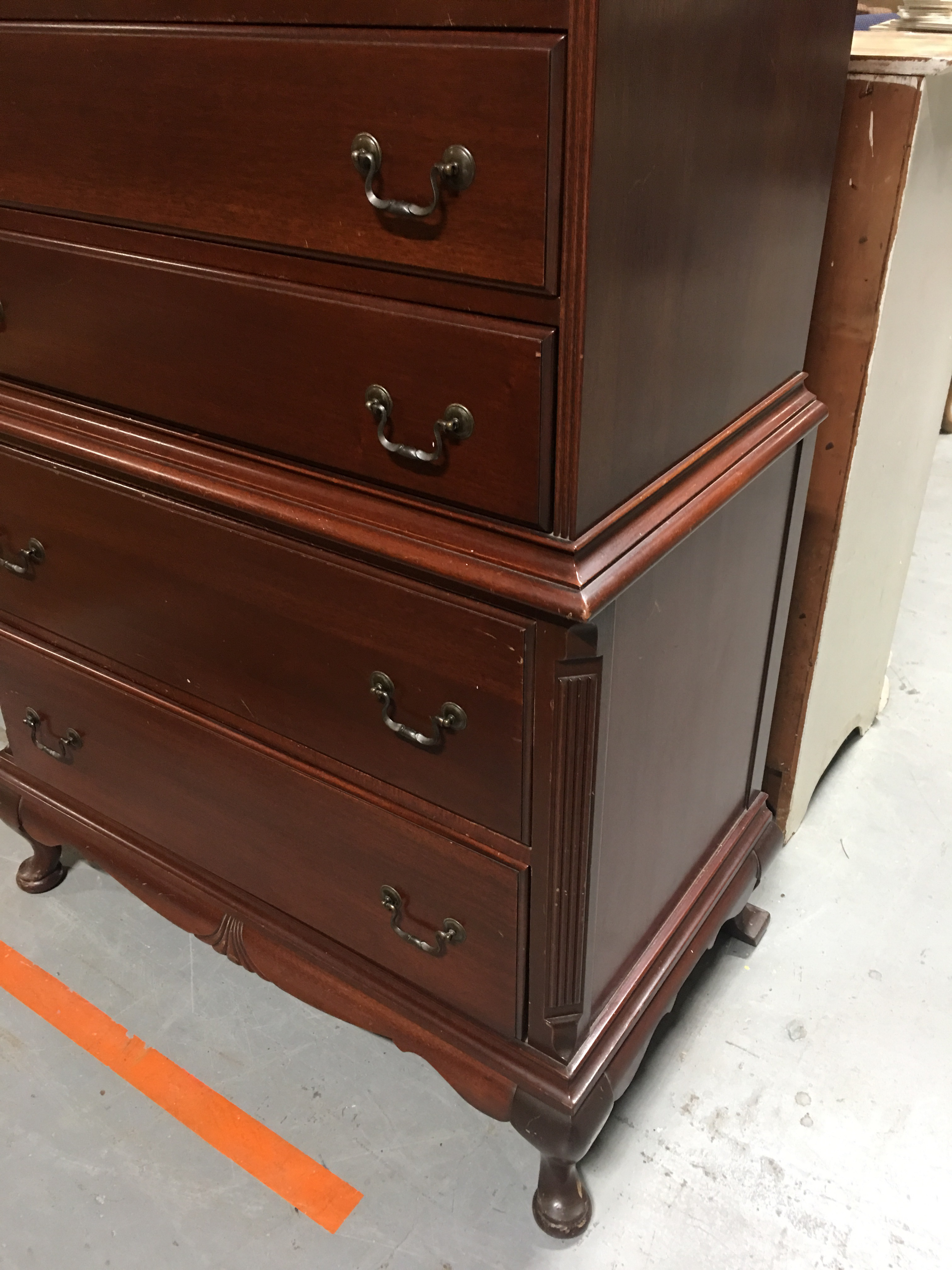Continental Furniture Antique Mahogany High Boy   Image 3 Of 7