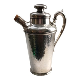 International Silver Co. Hammered Cocktail Shaker For Sale