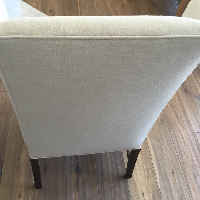 Linen Dining Chairs - Set of 7 - Image 5 of 11