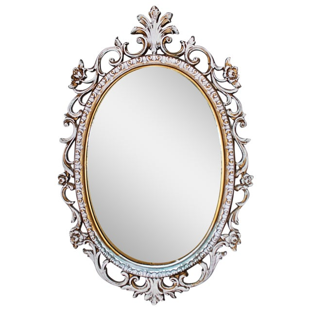 Oval Rococo Mirror - Image 1 of 5