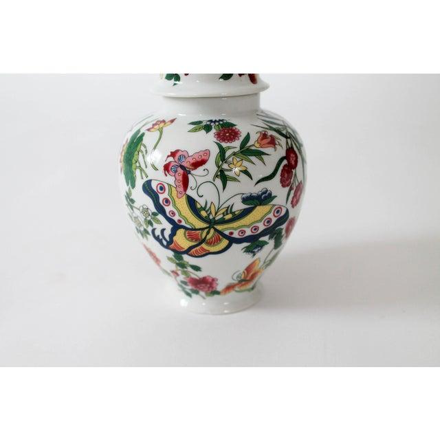 Colorful Vintage Lidded Ginger Jar For Sale In Milwaukee - Image 6 of 10