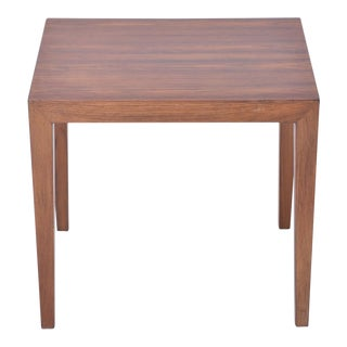 Vintage Rosewood Side Table by Severin Hansen, 1960s For Sale