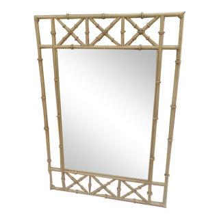 Metal Faux Bamboo Mirror