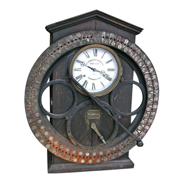 German Punching Clock 1920s For Sale