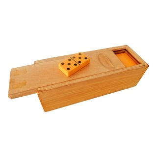 Mid-Century Bakelite Dominos in Original Case For Sale