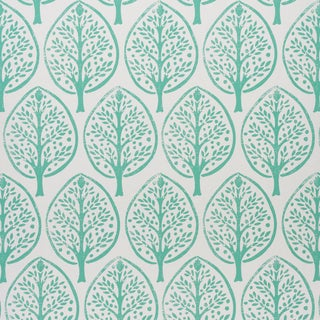 Schumachr x Molly Mahon Tree Wallpaper in Seaglass