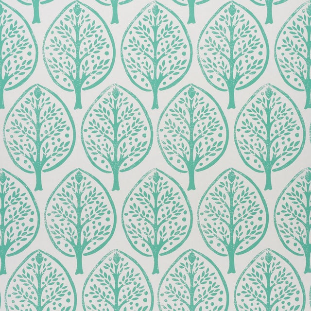 Schumachr x Molly Mahon Tree Wallpaper in Seaglass For Sale
