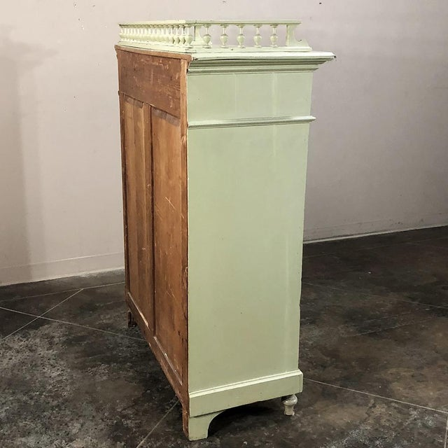 Antique Belle Epoque Painted Cabinet For Sale - Image 11 of 13