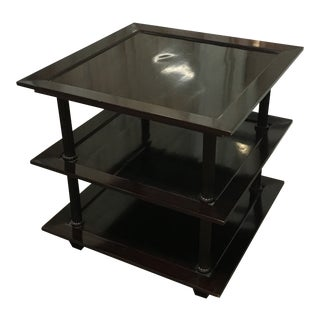 20th Century Modern Barbara Barry for Baker 3 Tire Stand End Table For Sale