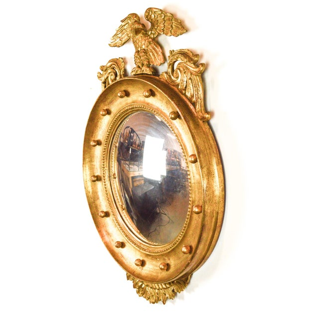 Federal-Style Gilt Convex Mirror - Image 3 of 8