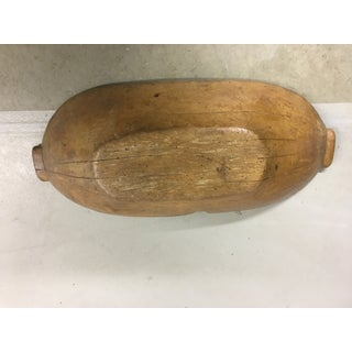 Antique French Wooden Dough Bowl Preview