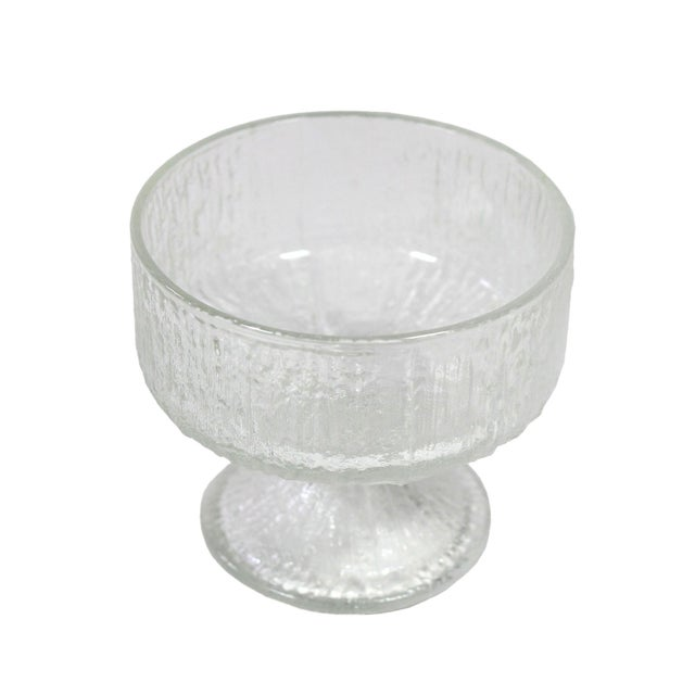 "Mid-Century Modern 1970's Mid-Century Iittala ""Aslak"" Dessert Sherbet Glasses by Tapio Wirkkala - Set of 6 For Sale - Image 3 of 5"