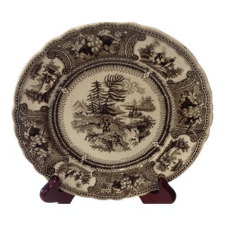 Antique English Staffordshire Plate Elijah Pattern For Sale
