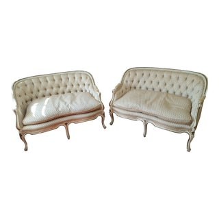 20th Century Louis XV W&J Sloane Exquisite Matching Loveseats - a Pair