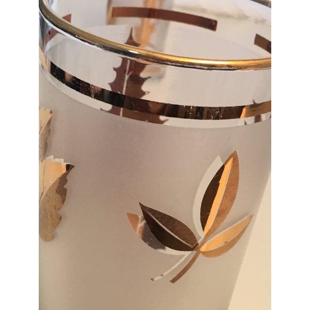 Vintage Gold Leaf Frosted Glassware - Set of 16 - Image 9 of 11