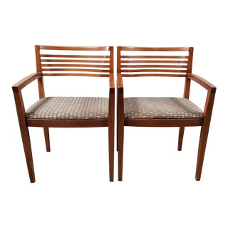 Ricchio for Knoll Arm Chairs - A Pair For Sale