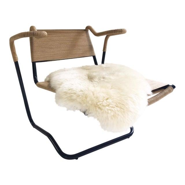 Dan Johnson for California Living Model 2750 Lounge Chair With Brazilian Sheepskin For Sale